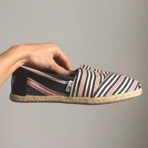 Toms Stripped Nautical Shoes
